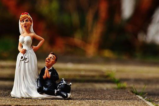 Bride And Groom, Handcuffs, Anklet, Marry, Wedding