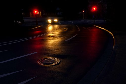 Road, Night, Light, Traffic, City, Autos, Dark