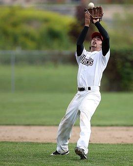 Baseball, Player, Infielder, Catch, Ball, Sport