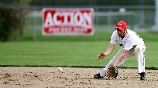 Baseball, Fielder, Player, Ball, Sport, League, Glove