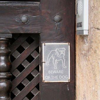 Front Door, Detail, Beware, Beware Of The Dog, Warning