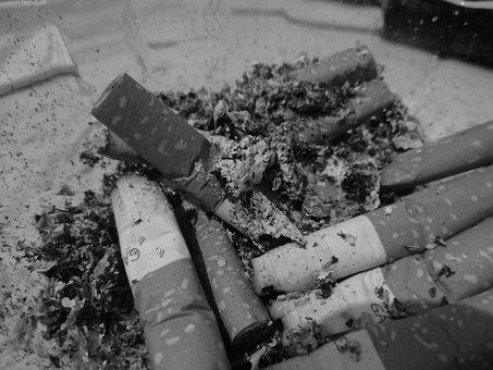 Black And White, Cigarette, Ash, Smoker