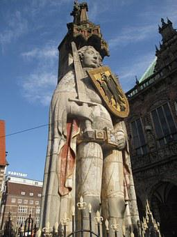 Bremen, Roland, Landmark, Justice, Right, Coat Of Arms