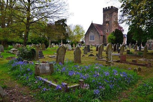 Graveyard, Graves, Church, Cemetery, Death, Scary, Dead