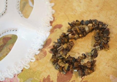 Tigers Eye, Bracelet, Anklet, Chain, Beaded, Beads