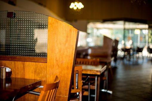 Restaurant, Chair, Table, Divider, Modern, Luxury