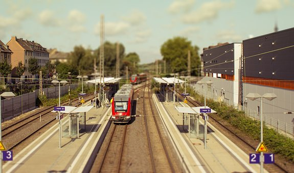 Architecture, Railway Station, Train, City, Stop
