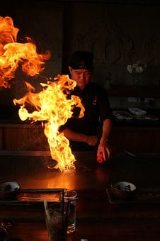 Teppanyaki, Steak, Fire, Roast, Grill, Grilled