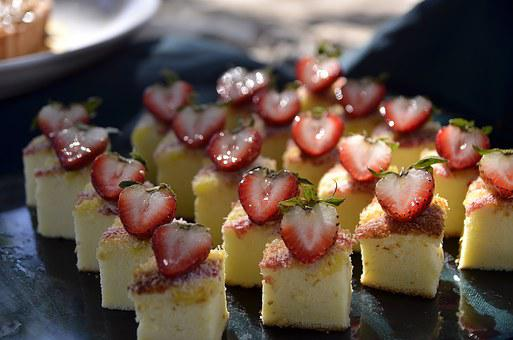 Strawberry, Cheesecake, Food, Cake, Dessert, Sweet