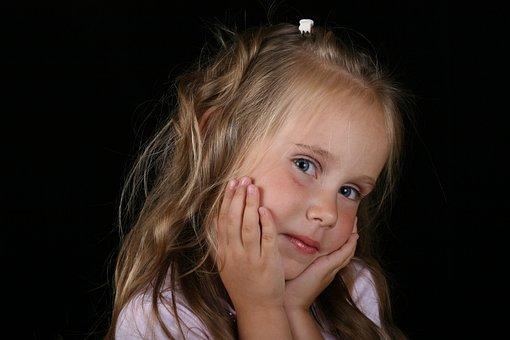 Girl, Child, Unsure, Thinking, Joy, Portrait