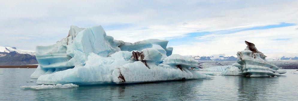 Jökulsárlón Glacier Lagoon, Glacial Lake, Water, Ice