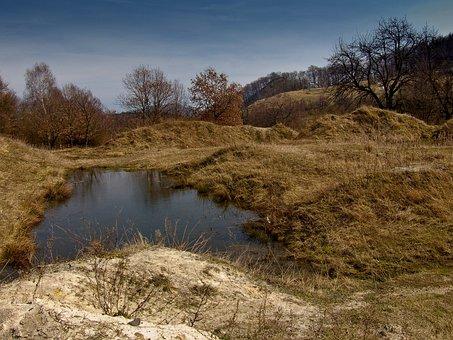 Lagoon, Babiny, Military Training Ground, Autumn