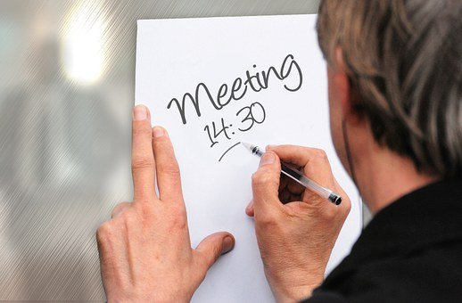 Meeting, Memo, Time, Time Of, Handwritten, List, Memory