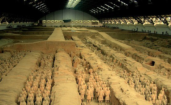 Mausoleum, Emperor Qin, 8000 Statues Of Soldiers, Tomb
