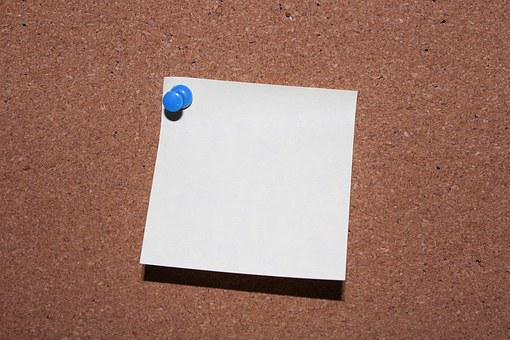List, Pin, Post It, Memo, Paper, Office, Blue, Notes