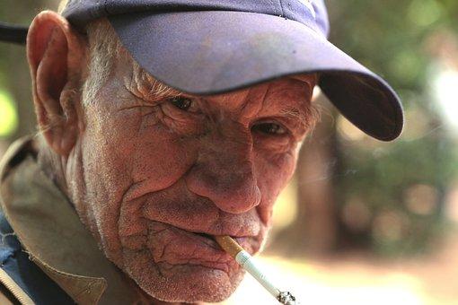 Mr, Wholesale, Cap, Smoker, Cigar, Veteran, Portrait
