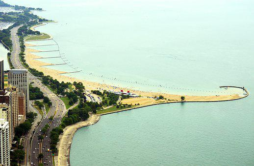 North, Avenue, Beach, Lincoln, Park, Chicago, Illinois