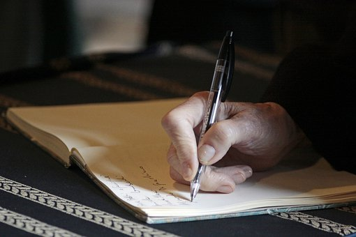 Hand, Writing, Pen, People, Author, Note, Study, Memo