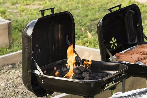 Barbecue, Grill, Outdoors, Baltimore, Fire, Cooking