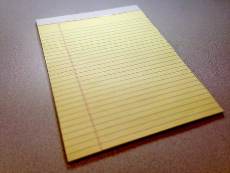 Notepad, Pad, Paper, Yellow, Legal Pad, Notes, Office