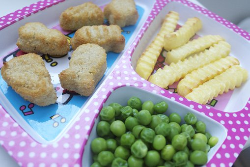 Lunch, Fries, Peas, Nuggets, Fish Sticks, Toddler Food