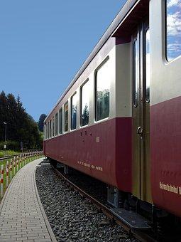 Railway Station, Platform, Railway, Wagon