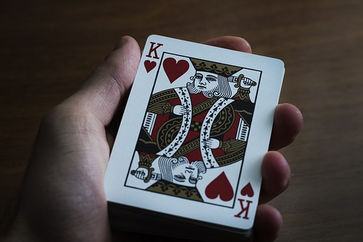 Hand, Playing Cards, Paper, Table, Desk, Game, Deck