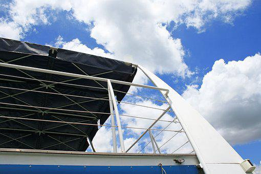 Railing And Roof Of Cruise Vessel, Railing, White
