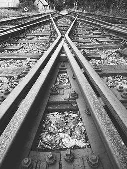 Track, Train, Points, Railway, Ties, Stop, Dubi