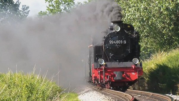 Steam Locomotive, Rasender Roland, Rügen, Small Ground
