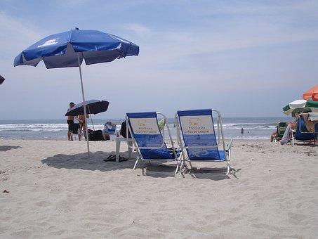 Beach, Sol, Summer, Cottage, Rest, Sand, Deck Chair