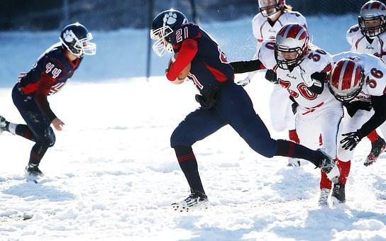 American Football, Snow, Football, Running Back, Game