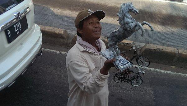 Tourism, Faces, Jakarta, Street Seller