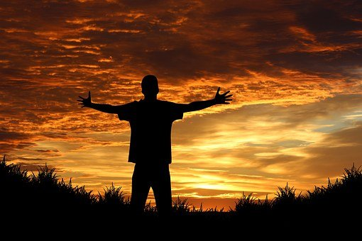Person, Human, Joy, Sunrise, Sunset, Sun, Orange
