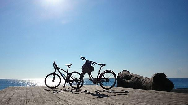 Taiwan, Pingtung, Sunshine, Hai Bian, Bicycle
