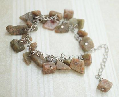 Autumn Jasper, Jasper, Tan Beaded, Bead, Bracelet