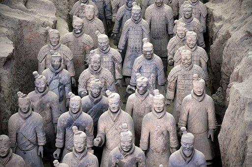 China, Xian, Army, Terracotta, Xian City Of Pingyao