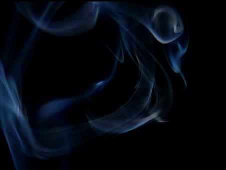 Smoke, Cigarette, Fire, Black, Blue, Tobacco, Addiction