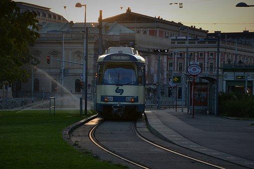 Vienna, Tram, Street Scene, Downtown, Cityscape