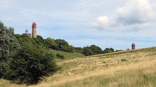 Cape Arkona, Rügen, Cliff, Lighthouses, Warning Signal