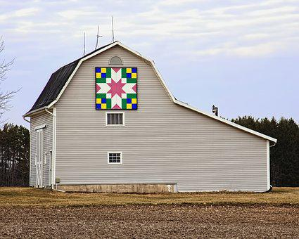Barn, Rustic, Barns, Quilt Barn, Ohio, Digital Art