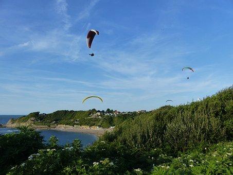 Paragliding, Side, Basque, Cote Basque, Erromardie
