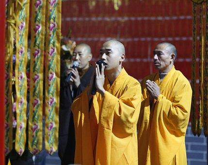 Monk, Monks, Chanting, Zheng Guanyin Temple, Buddhism