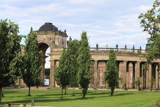 Closed Sanssouci, Castle, Potsdam, Tourism