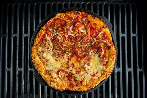 Pan Pizza, Pizza, Grill, Barbecue, Dutch Oven