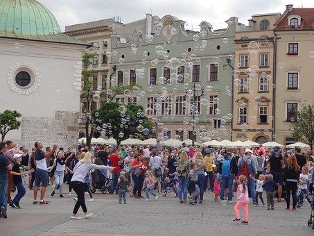 Krakow, Balloon, Entertainment, Square, Street Artist