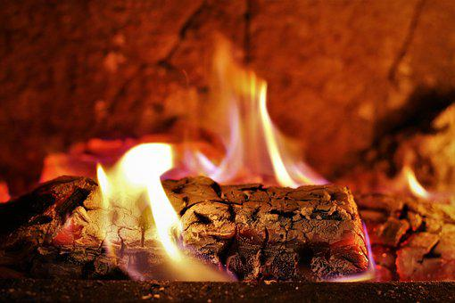 Fireplace, Firewood, Wood, Hot, Fire, Grid, Burn, Flame