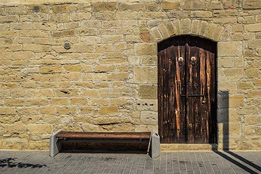 Door, Gate, Entrance, Castle, Stone, Architecture