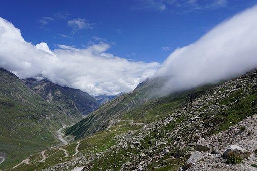 Mountains, India, Himalaya, Rothang, Himachal Pradesh
