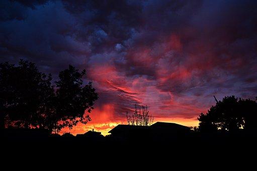 Dusk, Sunset, The Gathering Storm, O, Night Lights